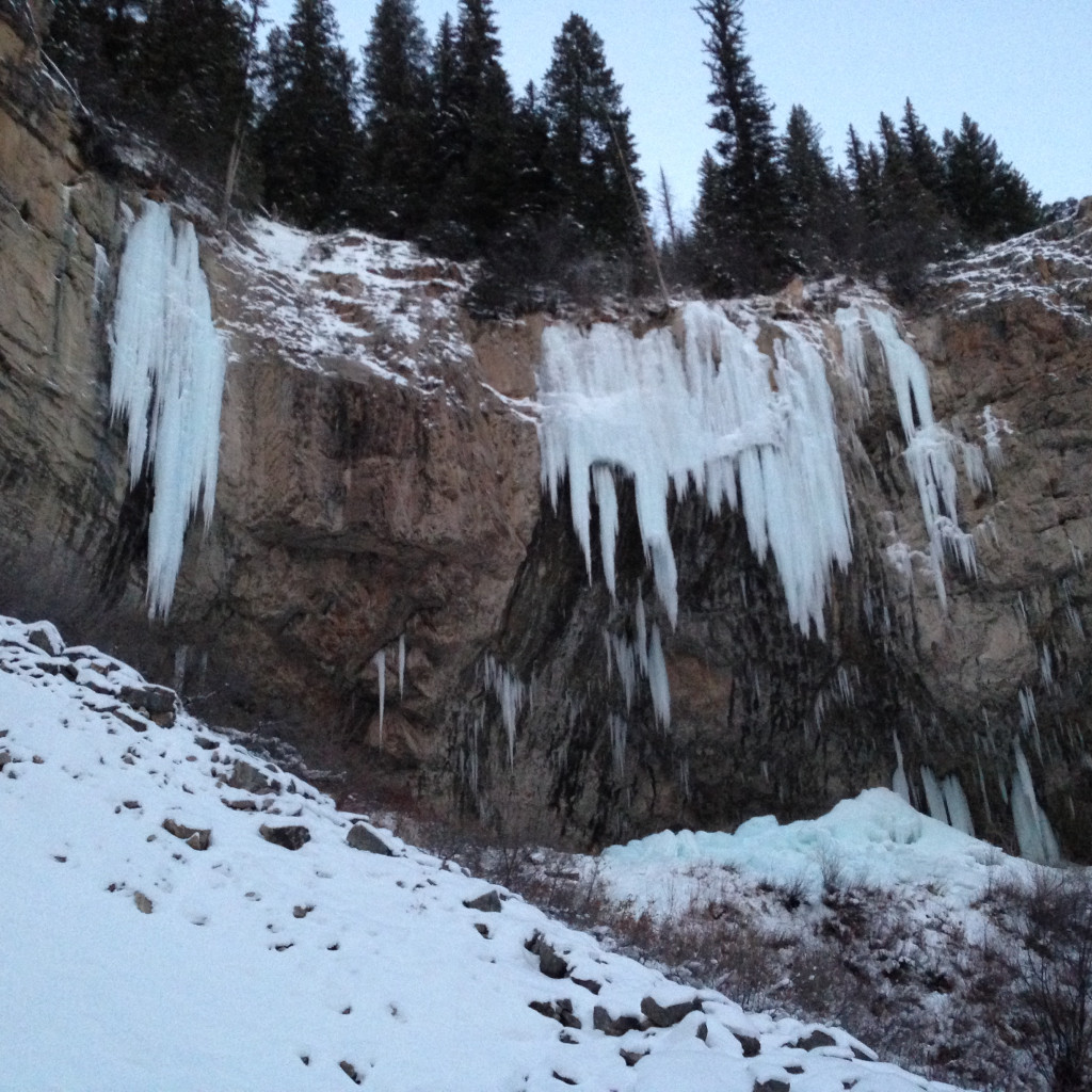 Stone Free and Ice Palace at Rifle Mountain Park, CO on 12-14-13.