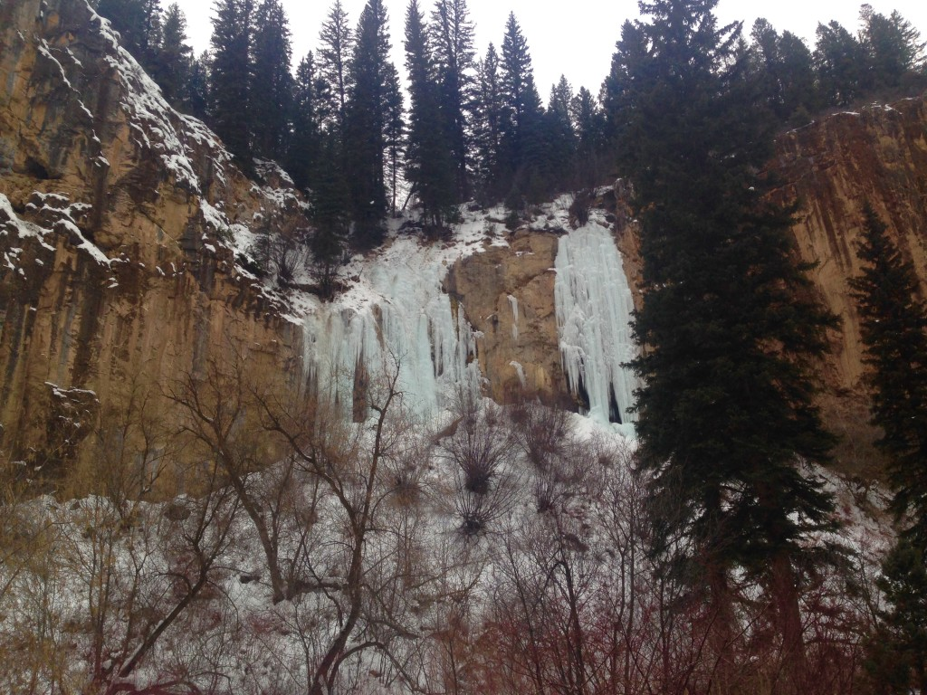 The Final Curtain in Rifle Mountain Park, CO on 1-10-15.