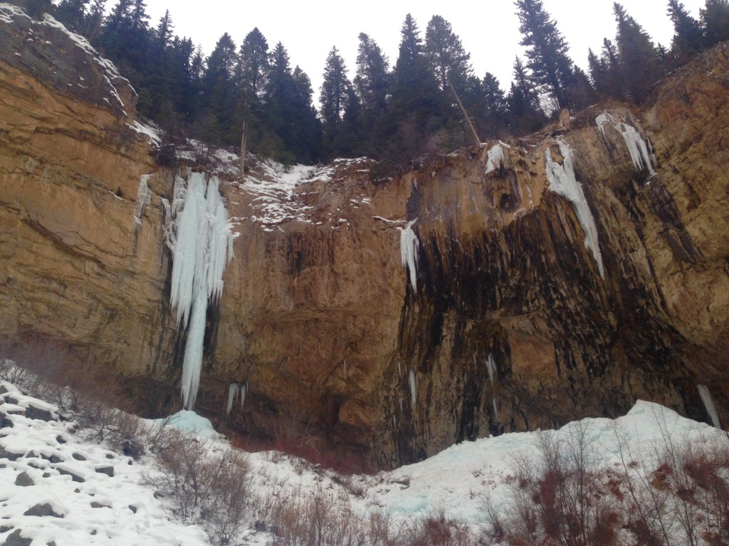 Stone Free and Ice Palace in Rifle Mountain Park, CO on 1-10-15