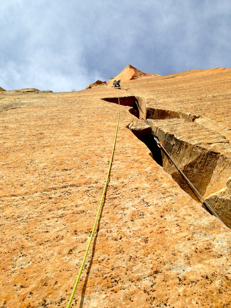 The stunning headwall on Tricks of the Trade. Zion National Park, Utah.